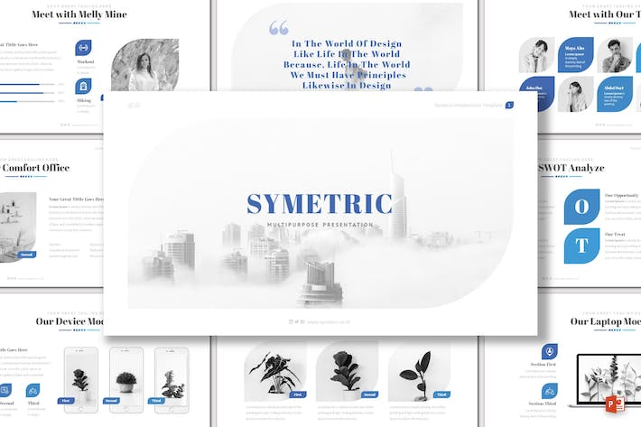 Thumbnail for Symetric - Powerpoint Template