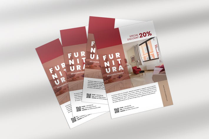 Thumbnail for Furniture Minimalist Flyer Template