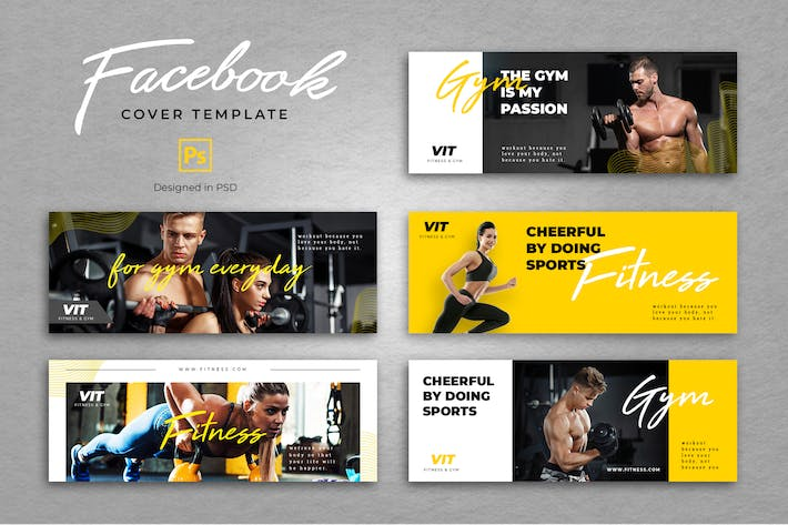 Thumbnail for Facebook Fitness Cover Template