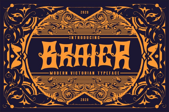 Thumbnail for Braier | Modern Victorian Typeface
