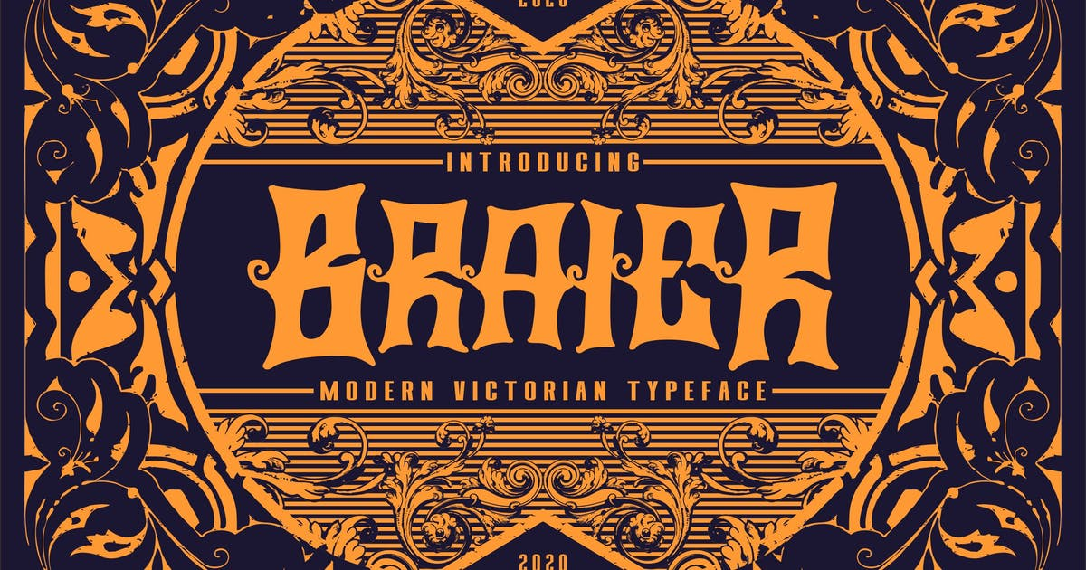 Download Braier   Modern Victorian Typeface by Vunira