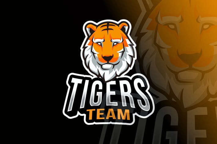 Thumbnail for Tigers Team Logo Template