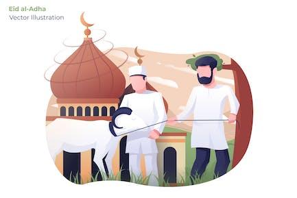 Eid AlAdha - Illustration Vecteur