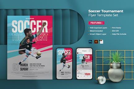 Soccer Tournament Flyer - Instagram Post & Stories
