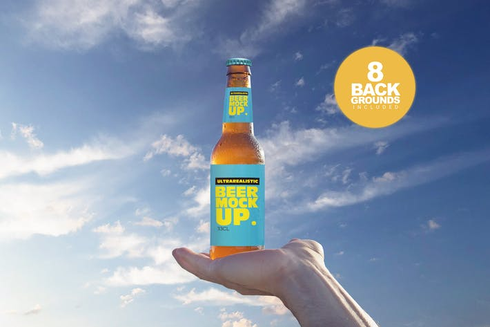 Thumbnail for Beer in the Sky Mockup