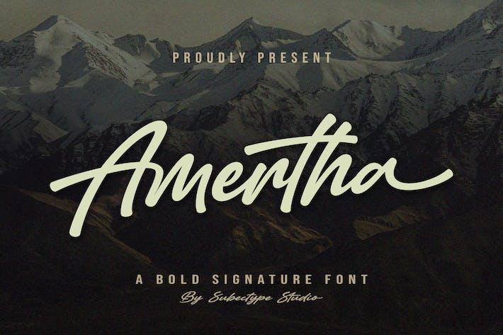 Amertha - Bold Script Font