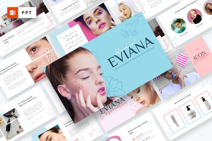 Eviana - Beauty & Cosmetic Powerpoint Template
