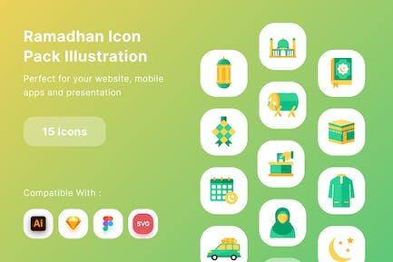 Ramadhan Icon Pack Illustration