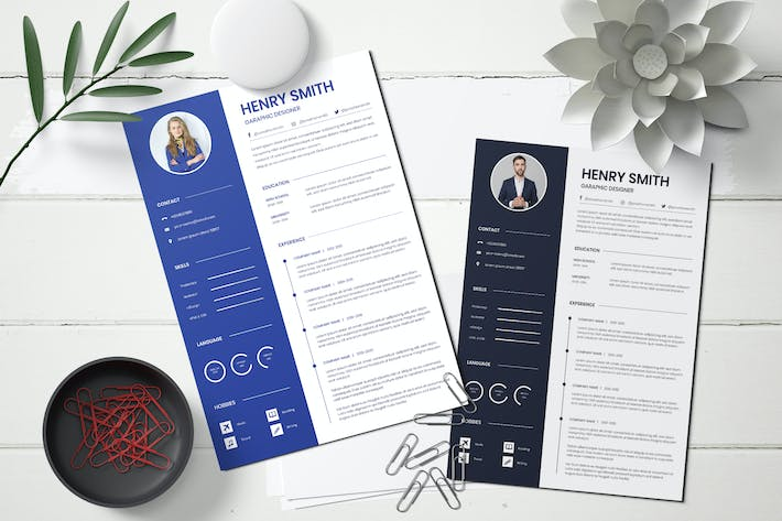 Thumbnail for Business Resume CV Template