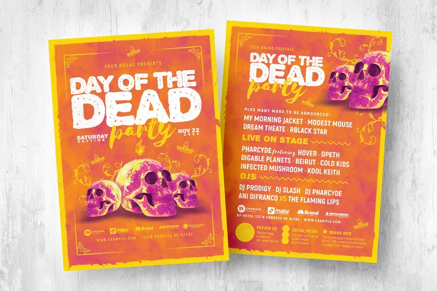 Day of The Dead Flyer/ Poster/ Menu