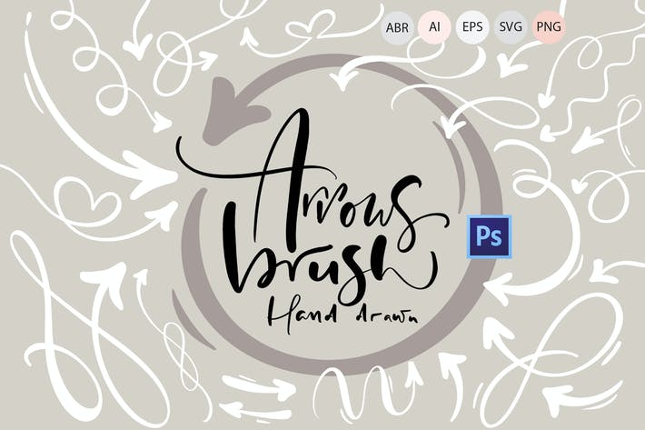 Thumbnail for Hand drawn arrows brush