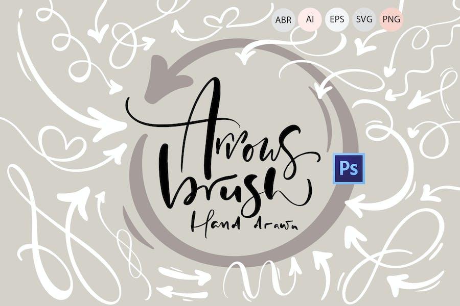 Hand drawn arrows brush
