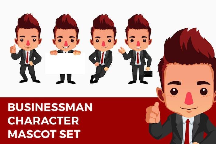 Thumbnail for Business Man Mascot Character Set