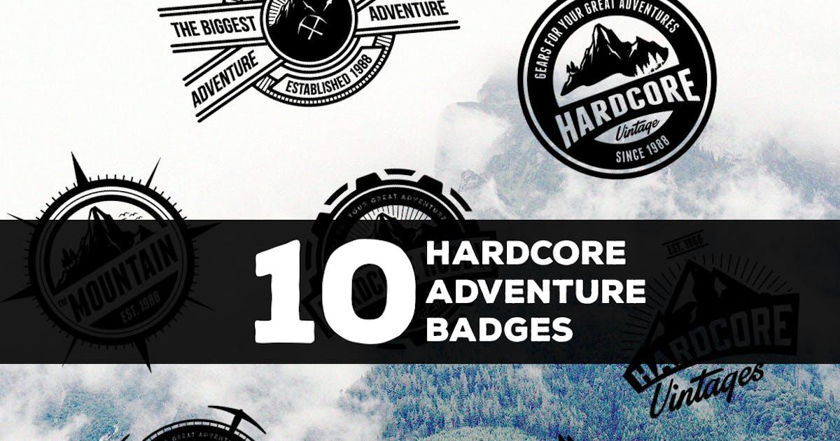 10 Hardcore Adventure Logos & Badges by Suhandi