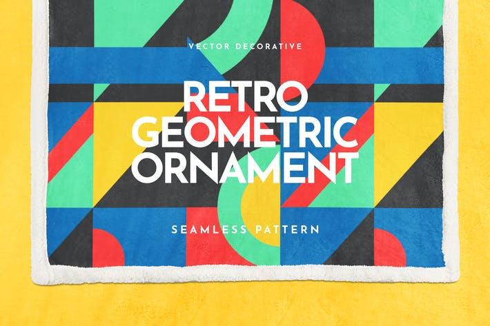 Thumbnail for Retro Geometric Ornament Seamless Pattern