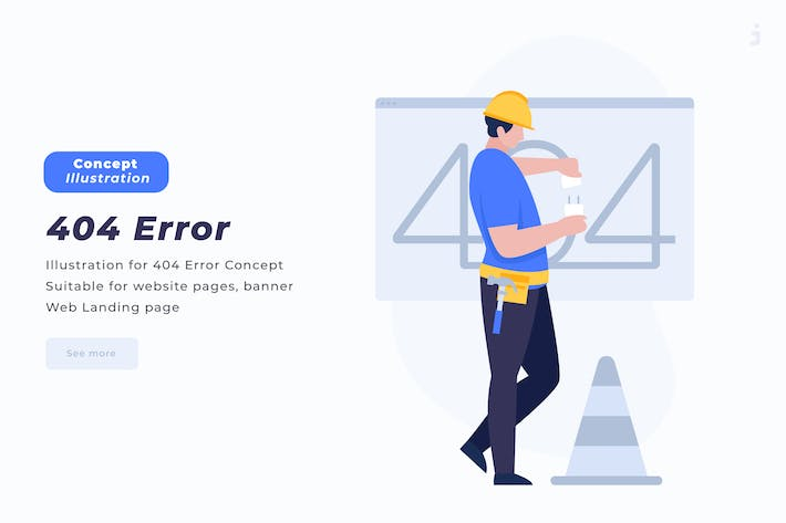 Cover Image For 404 Error - Vector Illustration