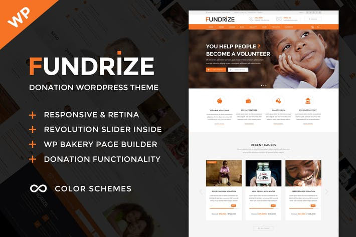 Thumbnail for Fundrize - Responsive Donation & Charity WordPress
