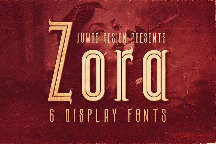 Thumbnail for Zora - Vintage Display Font