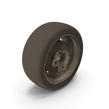 Verlassene Pkw-Reifen
