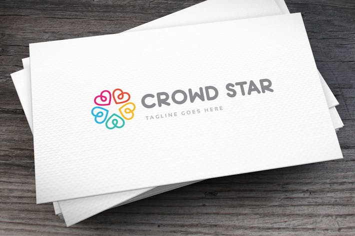 Thumbnail for Crowd Star Logo Template