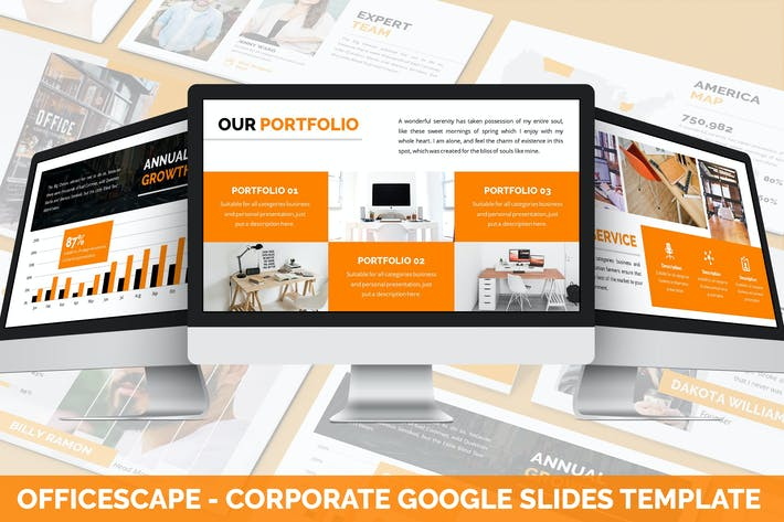 Thumbnail for Officescape - Corporate Google Slides Template