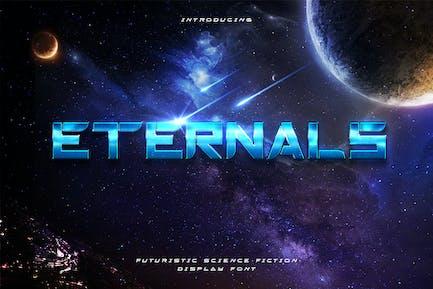 Eternals - Caractères d'affichage de l'espace futuriste