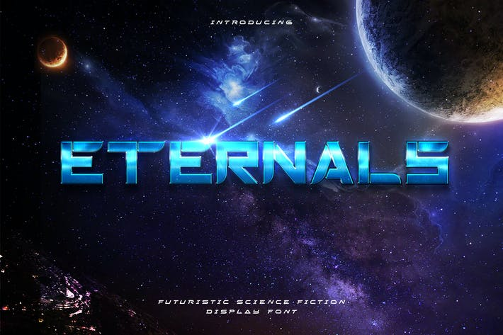 Thumbnail for Eternals - Futuristic Space Display Tipo de letra