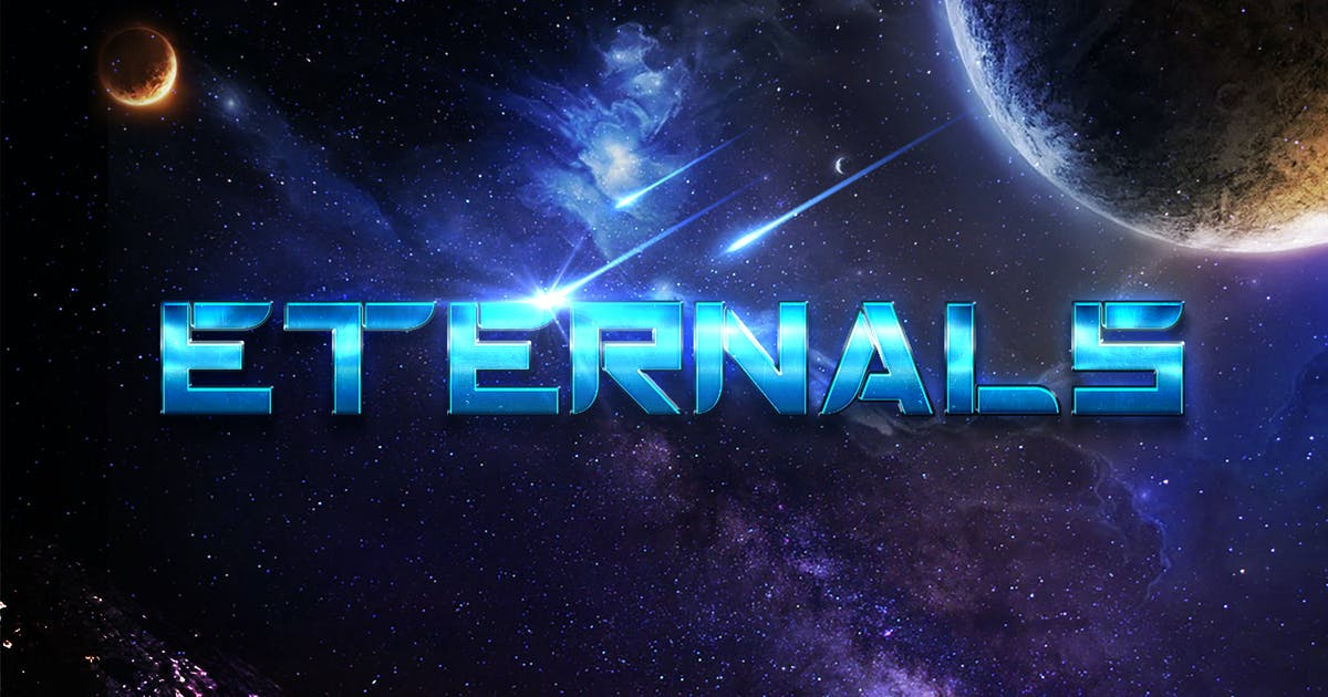 Download Eternals - Futuristic Space Display Typeface by naulicrea