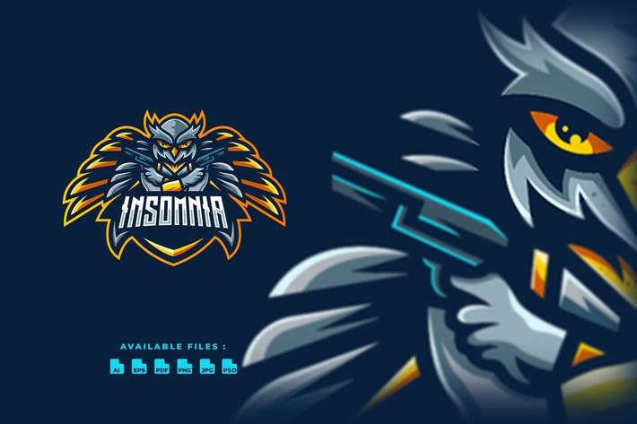 Thumbnail for Insomnia Owl Sport and Esport Logo