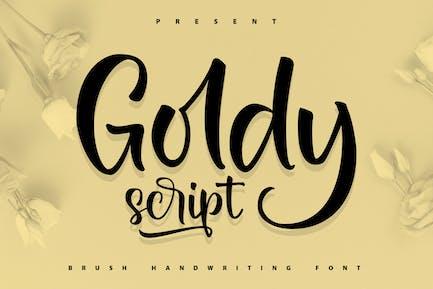 Goldy   Brush Handwriting Font