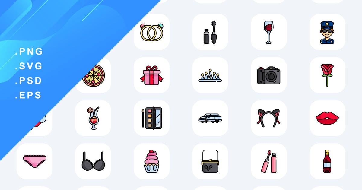 Download 40 Bachelorette Icons by Guapoo