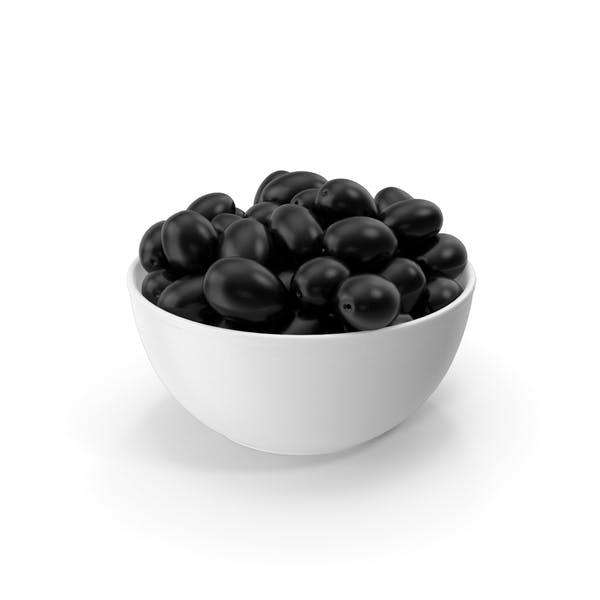 Bowl With Black Olives