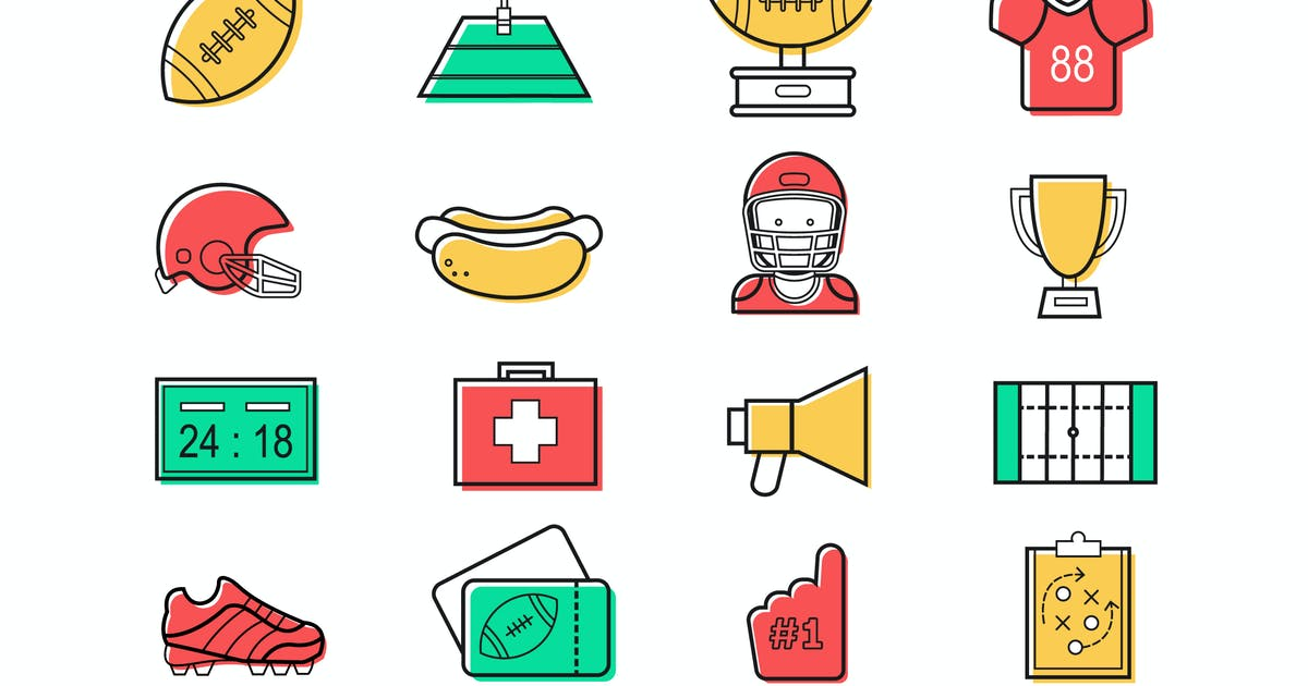 Download American Football Icons by Jumsoft