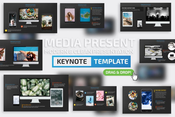 Thumbnail for Media Keynote Presentation Template