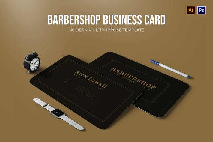 Thumbnail for Barbershop - Business Card