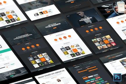 MiniFox | One Page Multi-Purpose PSD Template