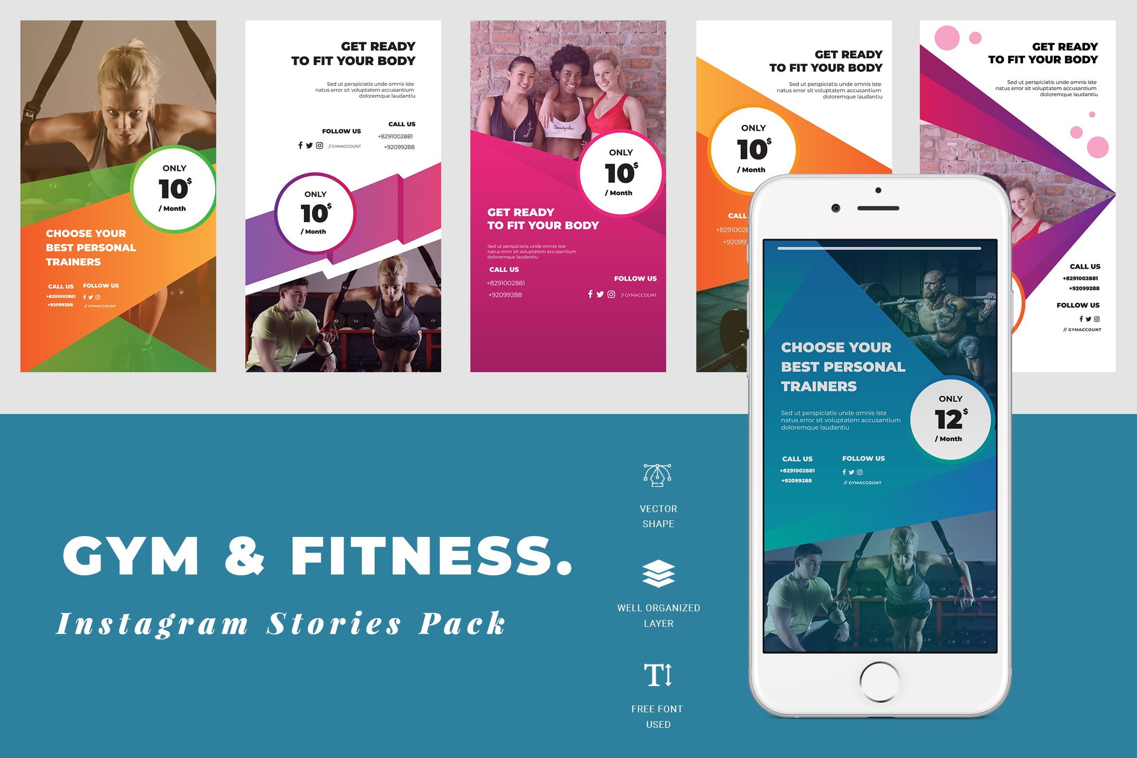 Gym Instagram Stories Template By Tmint On Envato Elements