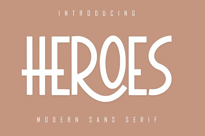 Thumbnail for HEROES Sans Serif