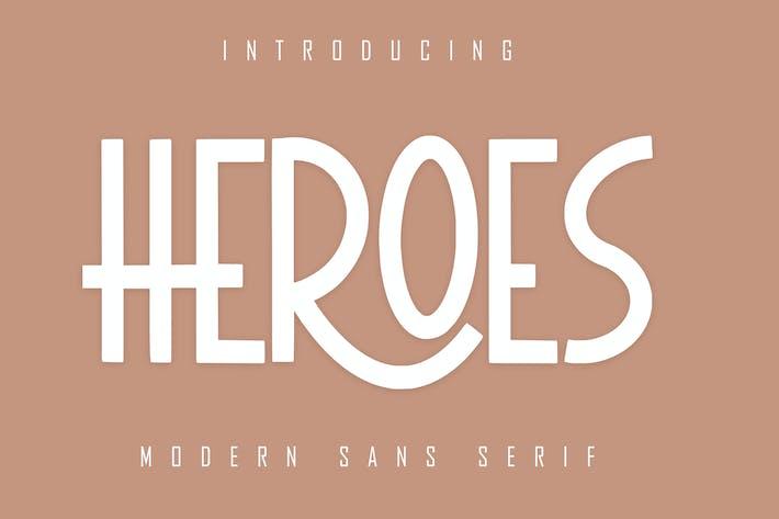 Thumbnail for HEROES Sans Con serifa