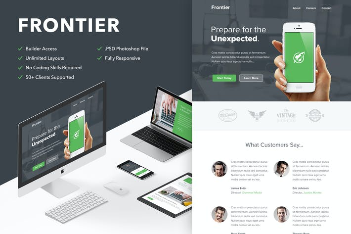 Thumbnail for Frontier - Responsive Email + Themebuilder Access