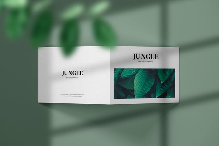 Thumbnail for Horizontal Bifold Brochure Mockup