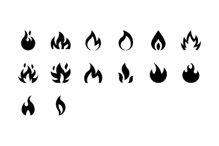 Cover Image For 14 Flame icons