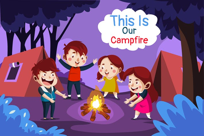 our campfire - Illustration