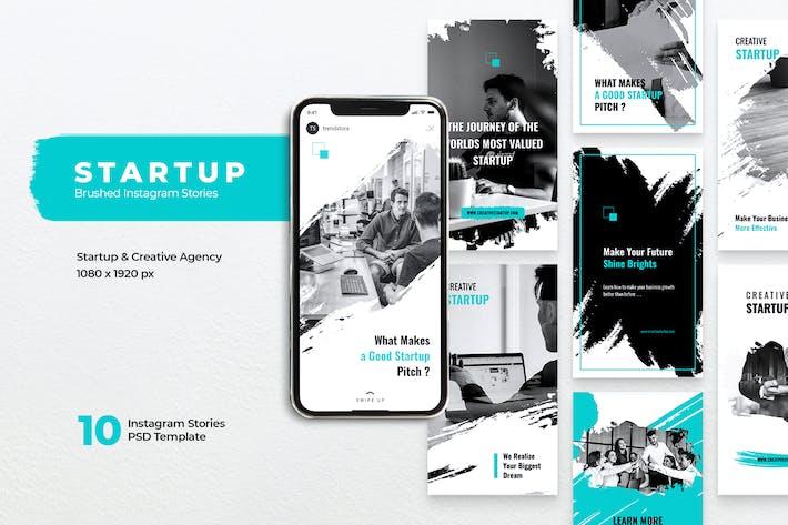 Thumbnail for STARTUP Creative Agency Brush Instagram Stories