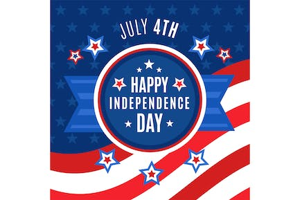 Flat 4th July Independence Day
