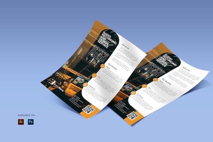 Thumbnail for Musikstudio - Flyer Design