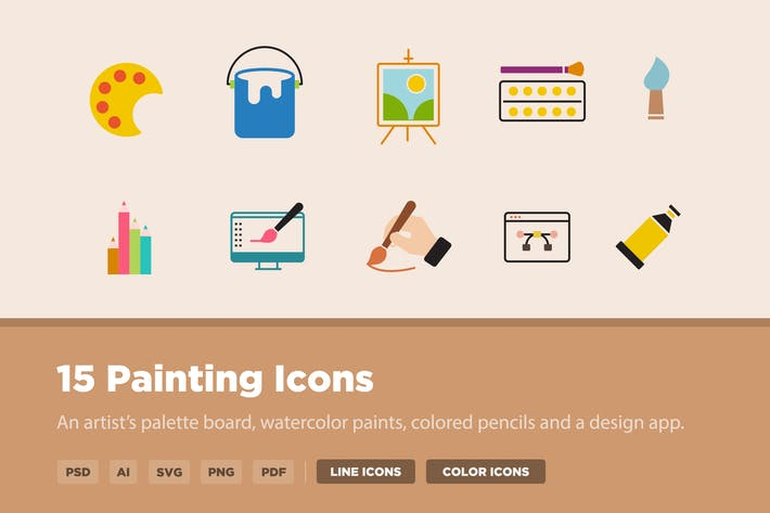 Thumbnail for 15 Painting Icons