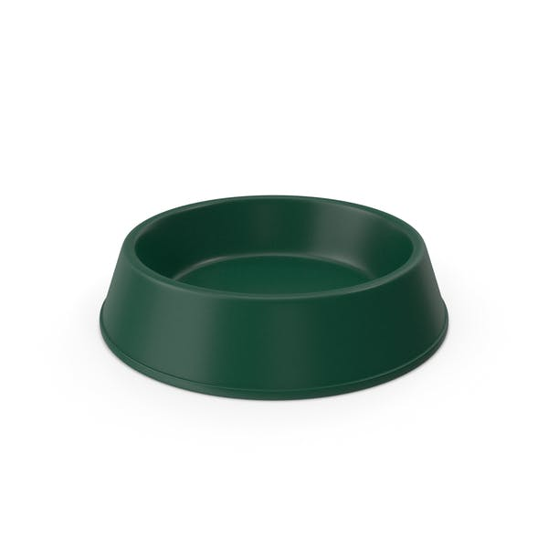 Pet Food Bowl Dark Green