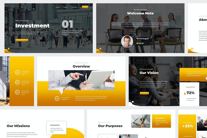 Thumbnail for Investment Pitch Deck Powerpoint Template