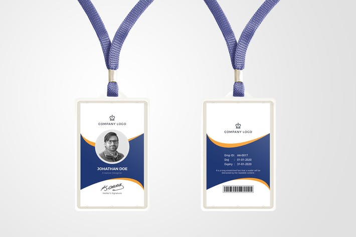 Thumbnail for ID Card Template 08